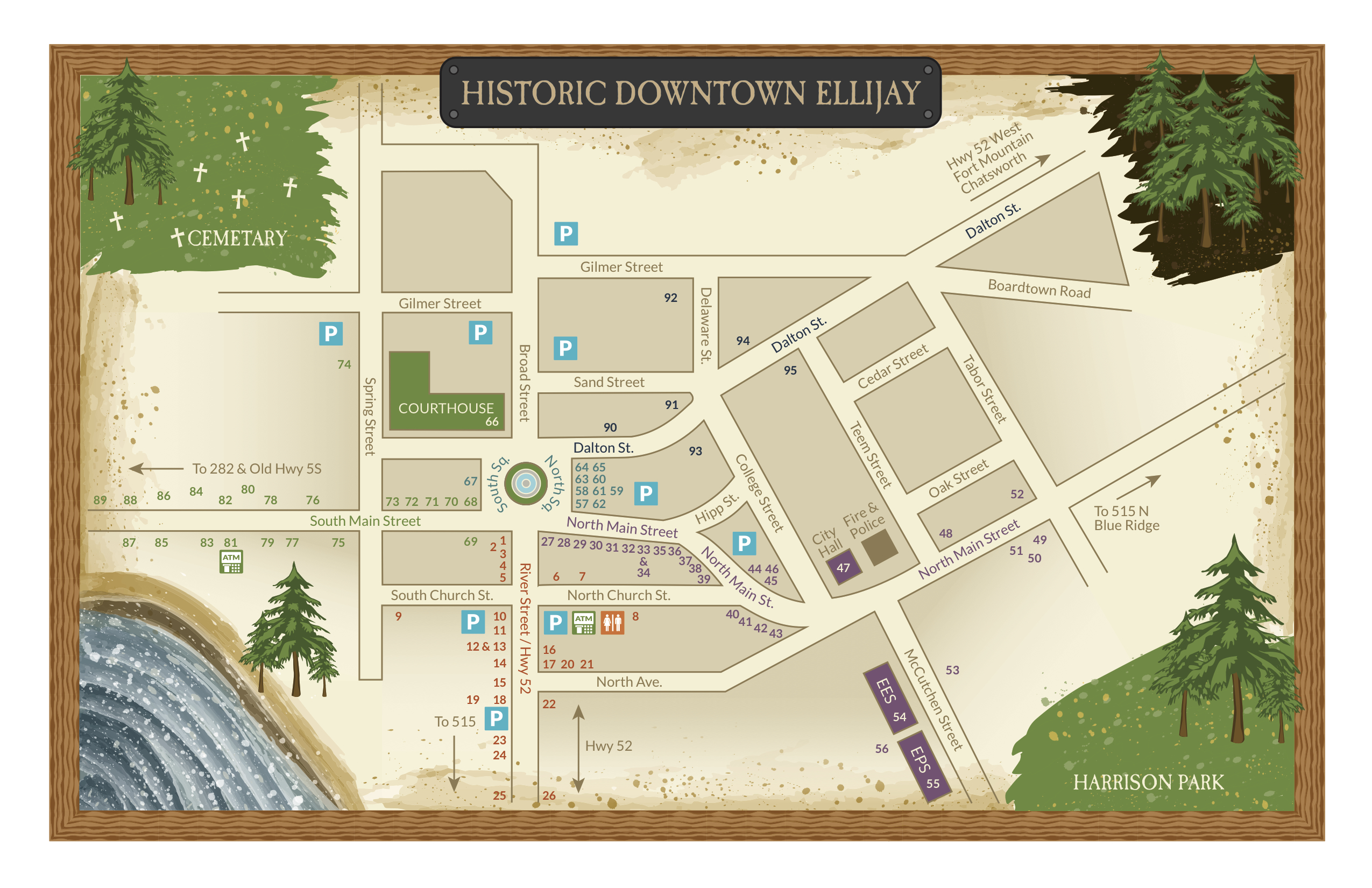 Ellijay GA Apple Festival Map Guide - Abby\'s Ice Cream and Frozen Yogurt